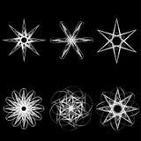 Le beau modèle géométrique tient le premier rôle des icônes Photos libres de droits