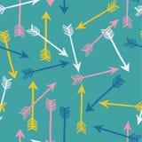 Modèle sans couture d'amusement avec des flèches. Fond abstrait. Illustration de vecteur. Photos stock