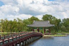 Le beau palais de la Corée du Sud Images stock