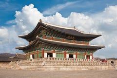 Le beau palais de la Corée du Sud Photos stock