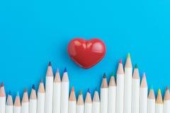Le beau passe-temps, couleur adulte de thérapie d'anti-effort crayonne sur b vif photo libre de droits
