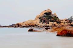 Le beau paysage de la plage en île de Shantou nanao, Guangdong, porcelaine image stock