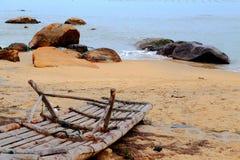 Le beau paysage de la plage en île de Shantou nanao, Guangdong, porcelaine photographie stock