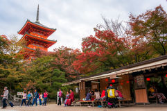 Le beau paysage de la tache de touristes la plus célèbre à Kyoto photos stock