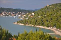 Le beau paysage de Sunny Croatia images stock