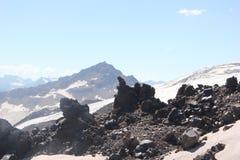 Le beau paysage des montagnes de Caucase images libres de droits