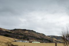 Le beau paysage islandais dans Skogar image libre de droits
