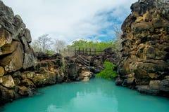 Le beau point de repère Las Grietas est un géologique Photos libres de droits