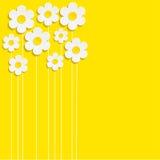 Le beau ressort fleurit le fond jaune - vecteur Images stock