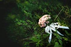 Le beau rose de mariage fleurit le bouquet Photographie stock libre de droits