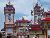Le beau temple obtiennent la peinture fraîche Images libres de droits