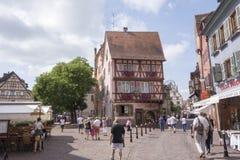 Le beau village de Colmar Image libre de droits