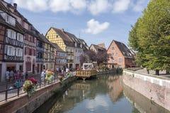 Le beau village de Colmar Photos stock