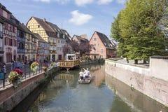Le beau village de Colmar Image stock