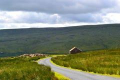 Le beau Yorkshire amarre un jour balayé par le vent images stock