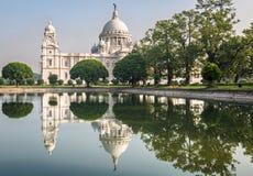 Le beaux monument et musée architecturaux de bâtiment de Victoria Memorial chez Kolkata ont construit dans la mémoire de la Reine Photos libres de droits