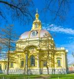 Le bel édifice de la chambre forte d'enterrement grand-ducale, saint Petersb images libres de droits