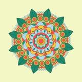 Le bel ornement floral indien peut être employé comme carte de voeux Photographie stock libre de droits
