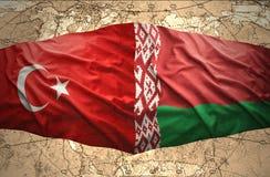 Le Belarus et la Turquie Photos stock