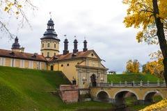 Le Belarus, Nesvizh, 24, octobre 2015 - château de Nesvizh en automne photos stock