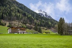 Le belle alpi sceniche dell'Europa Fotografia Stock Libera da Diritti