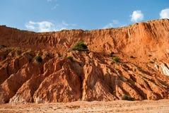 le belle dune hanno scolpito dal vento nel sud della Spagna nella costa oceanica Fotografia Stock