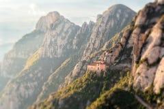 Le belle montagne di Montserrat fotografie stock libere da diritti