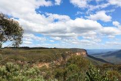 Le belle scogliere delle montagne blu parcheggiano, l'Australia Immagine Stock Libera da Diritti