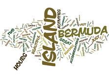 Le Bermude Jazz Festival Word Cloud Concept Immagine Stock