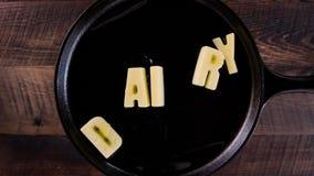 Le beurre exprime la laiterie clips vidéos