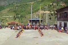 Le Bhutan, Haa, Tshechu, Images libres de droits