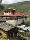 Le Bhutan - le Paro Dzong (monastère) Photo libre de droits