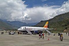 Le Bhutan, Paro, aéroport Photos stock