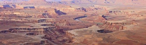Le bicarbonate de soude jaillit panorama de bassin Image libre de droits