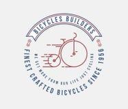 Le biciclette benissimo hanno elaborato con amore illustrazione di stock