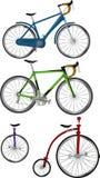 Le biciclette dell'insieme completo Immagine Stock