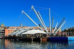 Le bigo, expò de zone, Gênes Italie Photographie stock libre de droits