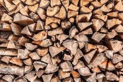 Le billette di legno riempiono l'intera immagine Fotografia Stock