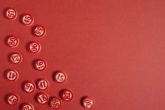 Le bingo-test de Noël numérote le style plat photographie stock libre de droits
