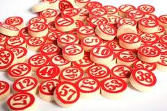 Le bingo-test numérote la durée immobile Photographie stock