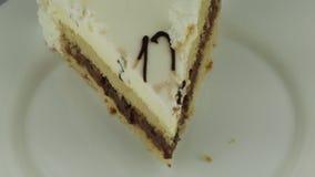 Le bio gâteau pour le restaurant banque de vidéos