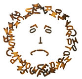 Le biscuit marque avec des lettres le cadre Images stock