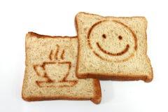 Le blé entier pane le déjeuner Photo libre de droits