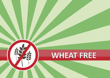 Le blé libèrent le drapeau Image libre de droits