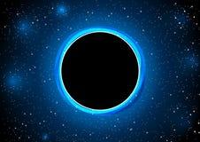 Le blackhole dans l'illustration de vecteur d'espace Images libres de droits