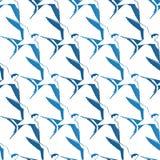 Le blanc bleu de vecteur avale des oiseaux géométriques Photographie stock