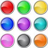le blanc boutonne le Web lustré de vecteur de positionnement Photographie stock