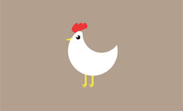 Le blanc chiken Images stock
