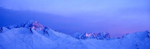 Le blanc de Mont Photographie stock