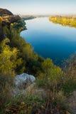 Le blanc de rivière à Oufa Images stock